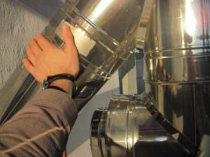 Фото 11. При роботі котла труби сильно не нагріваються
